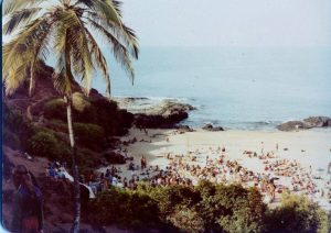 Full Moon Party on South Anjuna Beach, Goa, 1976. Photo by Sunny Schneider