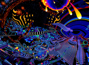 Psychedelic visuals of TAS