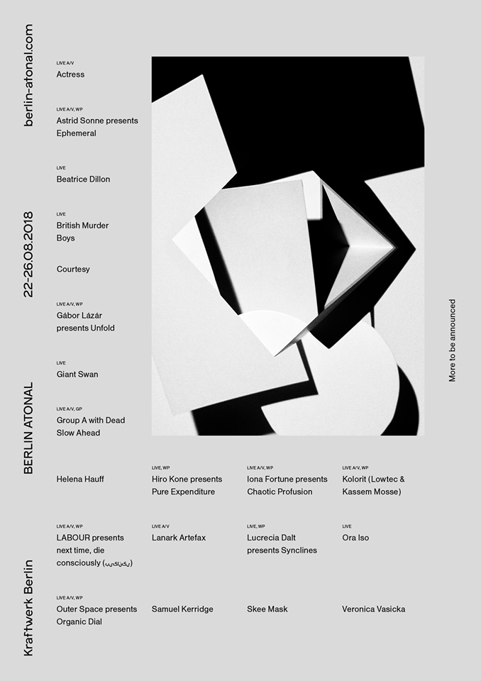 Berlin Atonal First Wave Line up