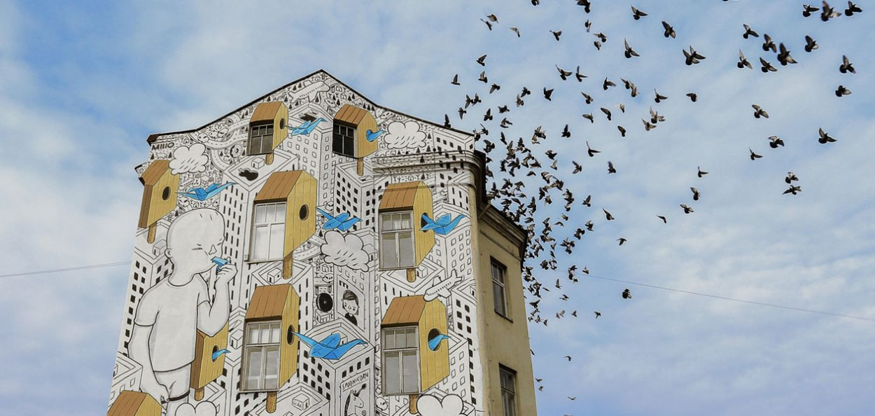 Large-scale mural stories of Millo