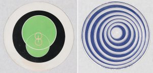 Marcel Duchamp - Rotorelief No. 7 – Verre de Bohême and Rotorelief No. 8 – Cerceaux – Modèle Déposé © Carnegie Museum of Art, Leisser Art Fund